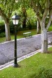 Lamp en Bank Royalty-vrije Stock Foto's