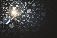 Lamp en bedrijfsschets Stock Afbeeldingen