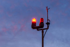 Lamp en bliksemafleider Royalty-vrije Stock Fotografie