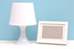 Lamp en fotokader Royalty-vrije Stock Foto