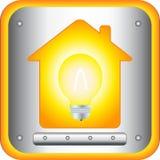 Lamp en licht binnenshuis Royalty-vrije Stock Afbeelding