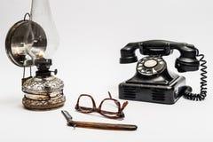 Lamp en scheermes Stock Foto's
