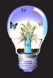 Lamp en vlinder Stock Afbeeldingen
