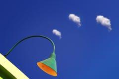 Lamp en wolken Royalty-vrije Stock Foto's