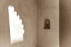 Lamp in entrance of traditional arabian house Stock Images