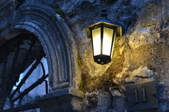 Lamp in the evening. royalty free stock images