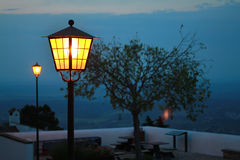 Lamp in the evening Stock Photography