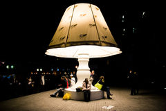 The Lamp - Fete des Lumieres 2010 Royalty Free Stock Photo