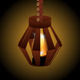 Lamp with fire Royalty Free Stock Photography