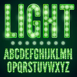 Lamp font vector illustration
