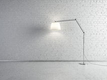 Lamp front of a brick wall Stock Images