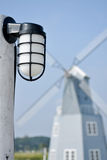 Lamp in the garden Stock Photo