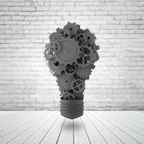 Lamp with gears and cogs Stock Photo