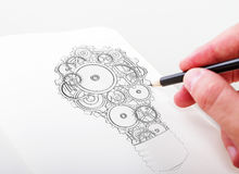 Lamp gears Royalty Free Stock Photography