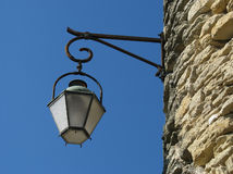 Lamp from Gordes. Traditional iron lamp in the Gordes Royalty Free Stock Photo