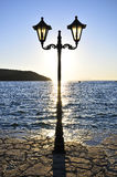 A lamp in greek island Royalty Free Stock Image