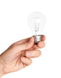 Lamp in hand Royalty Free Stock Image