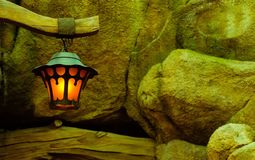 A Lamp Along the Stones stock photo