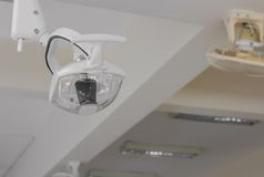 Lamp have leg in dental clinic. Interior of dentist office Stock Photo