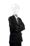 Lamp head businessman Stock Photography