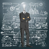 Lamp Head Businessman In Suit Stock Images