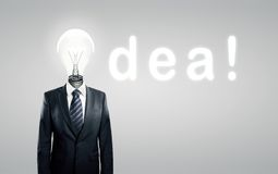 Lamp head, concept idea Stock Photo