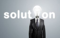 Lamp-head, concept solution Stock Photography