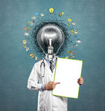 Lamp head doctor man have got an idea Royalty Free Stock Photography
