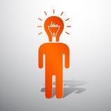 Lamp head human Stock Photography
