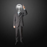 Lamp-head push the button Royalty Free Stock Photos