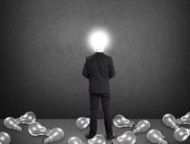 Lamp hoofdzakenman, Ideeconcept Stock Afbeelding