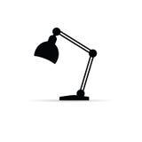 Lamp icon art vector black Royalty Free Stock Image