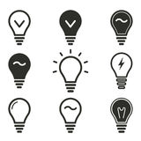 Lamp icon set. Lamp vector icons set. Black illustration isolated on white background for graphic and web design royalty free illustration