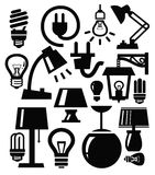 Lamp icons Royalty Free Stock Image