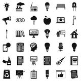 Lamp icons set, simple style. Lamp icons set. Simple style of 36 lamp vector icons for web isolated on white background Stock Image