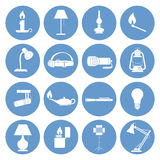 Lamp Icons Set. Vector illustration of a Set of Lamp Icons vector illustration