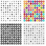 100 lamp icons set vector variant. 100 lamp icons set vector in 4 variant for any web design isolated on white Stock Images
