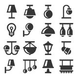 Lamp Icons Set Stock Images