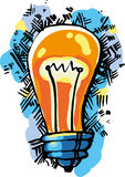 Lamp idea Stock Photos