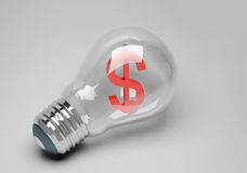 Lamp idea of business Stock Photography