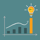 Lamp of idea for graphic graph Stock Image