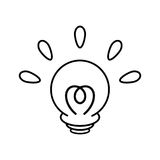 Lamp - Idea icon  Stock Images