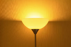 Lamp In Darkened Room Stock Photo