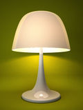 Lamp isolated on green background Stock Photography