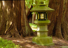 Lamp in japanese garden Royalty Free Stock Images
