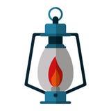 Lamp kerosene old lantern camping Royalty Free Stock Image
