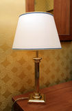 Lamp with a lamp-shade Stock Photos