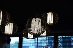 Lamp-lampan planläggs och är unikt bestämt Arkivfoto