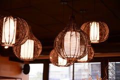 Lamp-lampan planläggs och är unikt bestämt Fotografering för Bildbyråer
