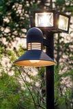 Lamp. S illuminate the road to the light poles Royalty Free Stock Photos
